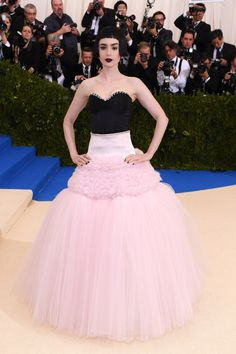 Met Gala 2017 Red Carpet Live: Lily Collins in Giambattista Valli and Tiffany jewelry