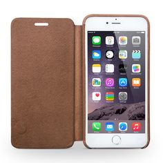 Ultra Slim Real Flip Cover Leather Case for iPhone 6 6s Plus