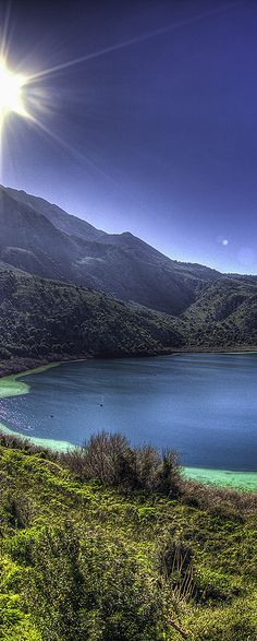 Kournas lake in Chania, Crete