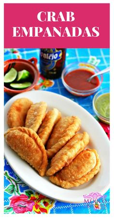 How to make Crab Empanadas I hope you enjoy this recipe its one of my favorite things to eat when I go to my hometown Crab Empanadas mexicanfood Authentic Mexican Recipes, Mexican Food Recipes, Dinner Recipes, Seafood Dishes, Fish And Seafood, Seafood Recipes, Cooking Recipes, Beef Empanadas, Good Food