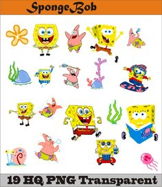 SpongeBob HQ Collection PNG Vector Instant Download Disney Clipart Digital Albums Magnets Collages Greeting Cards Stickers by SlavGraphics on Etsy