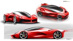 LaFerrari Design Sketch Renders
