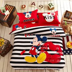 Disney\'s Mickey Mouse Reversible Bedding Collection by Jumping ...