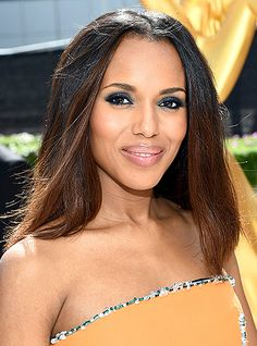 Find out how to recreate Kerry Washington's dramatic eye makeup! Her makeup artist gives us the how-to. Click through for our Emmys beauty breakdown!