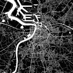 Stock Image from $0.99, Antwerp Vector Map#travel #map #monochrome #vector #streets #water #background #black #white #alpha #design #structure