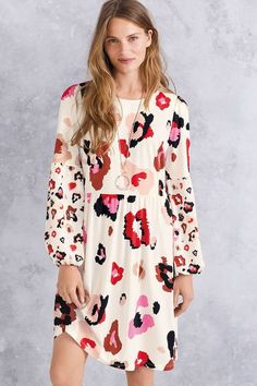 f2f79907a7314c Next Abstract Animal Printed Dress