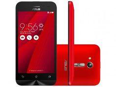"""Smartphone Asus ZenFone Go 8GB Vermelho Dual Chip - 3G Câm. 5MP Tela 4.5"""" Proc. Quad Core R$ 549,90 OU EM ATÉ 6 X R$ 91,65 SEM JUROS NO CARTÃO."""