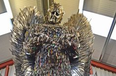 The Knife Angel - A Sculpture Made of 100,000 Knives Confiscated by the Police - http://www.odditycentral.com/art/the-knife-angel-a-sculpture-made-of-100000-knives-confiscated-by-the-police.html