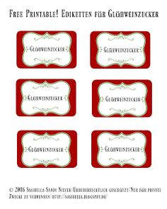 Basilikumsalz und Glühweinzucker - Geschenke aus der Küche + Freebie Cookie Cutters, Printables, Blog, Christmas, Pdf, Creative Gifts, Basil, Christmas Time, Sugar