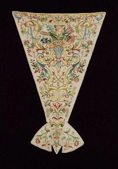 Stomacher Italian early 18th century Silk embroidery