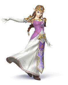 Zelda as she appears in Super Smash Bros. for Nintendo 3DS / Wii U.