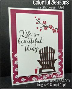"""The theme this time on SUO Challenges is """"Out in the Garden"""". Love the Colorful Seasons stamp set because of all the seasons represented. And, when I think of a garden, I think of a ni…"""