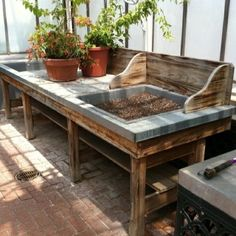 A potting bench or potting station is the perfect spring project for your garden, porch, or garden shed, and right now is the perfect time.