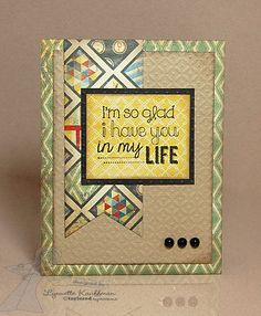 Father's Day card ideas using Bazzill's Mac paper collection.