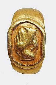 A fine Roman Signet Ring with Athena intaglio ca 1st century AD