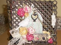 Artsy Addicts - Marion Smith's design - Lattice Chipboard Album from Leaky Shed Studio