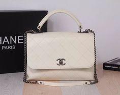 Chanel white handbags shoulder bag 31-22-12cm