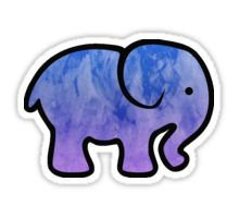 'Elephant' Sticker by sophh-sophh Tumbler Stickers, Phone Stickers, Ivory Ella Stickers, Preppy Stickers, Snapchat Stickers, Kawaii, Aesthetic Stickers, Blue Aesthetic, Cute Wallpapers