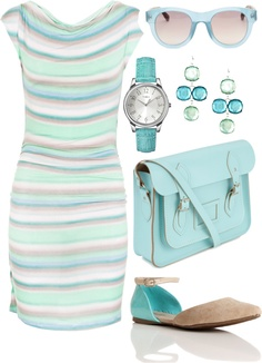 """Blue like the sea"" by i-dream-of-jeans ❤ liked on Polyvore"