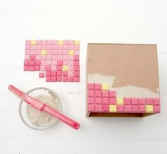Neat  and easy idea to create mosaics using  a car mat to make the tiles. I want to try this! Great directions too.