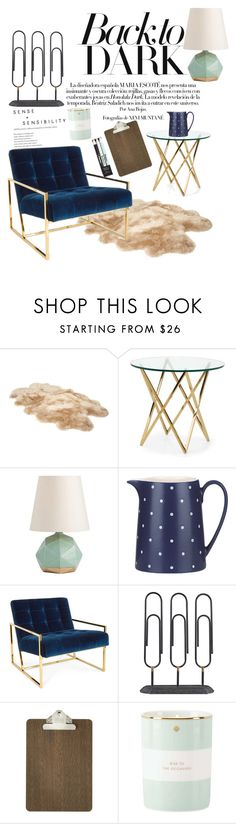 """""""Home."""" by annacc ❤ liked on Polyvore featuring interior, interiors, interior design, home, home decor, interior decorating, UGG, Arteriors, Kate Spade and Jonathan Adler"""