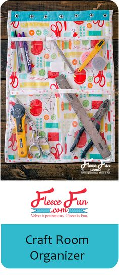 I love this Craft room organizer.  The sewing  instructions are clear and easy to follow.  I think I will make it in the colors to  go with my sewing space.  Great DIY.