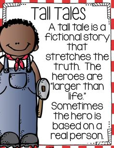 Tall Tales (Reader's Theater, Activities and Figurative Language Lessons) Tall Tales Activities, Drama Activities, Drama Games, 2nd Grade Ela, Second Grade, Sixth Grade, Fourth Grade, Genre Study, Language Lessons