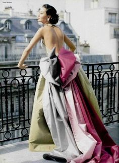 I think somewhere deep inside I want to wear a couture gown and hang over the side of a gorgeous balcony overlooking all of Paris.