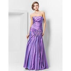 gratis metingen! trompet / mermaid strapless vloer-lengte taft avond / prom dress - EUR € 100.56