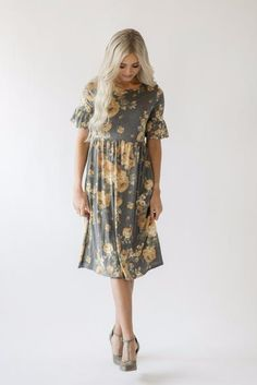 Lindsey Floral Midi Dress Comfy dresses  #mindymaesmarket #dreamcloset