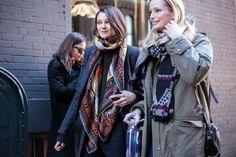 Photos: Street Style: New York Fashion Week Fall/Winter 2014 | Vanity Fair Pinned from vanityfair.com www.trakrecruiting.com - fashion & retail recruitment specialists