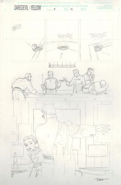Tim Sale-Daredevil Yellow 3 page 12 unpublished pencils Comic Art