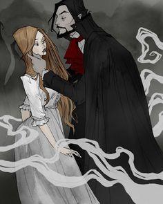 Drawlloween 2016 - Vampire by AbigailLarson.deviantart.com on @DeviantArt