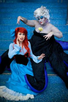 Ariel and Ursula cosplay