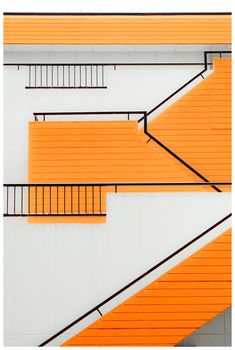 Professionals in staircase design, construction and stairs installation. In addition EeStairs offers design services on stairs and balustrades. Architecture Design, Orange Architecture, Installation Architecture, Stairs Architecture, Education Architecture, Landscape Architecture, Stairway To Heaven, Color Stories, Bauhaus