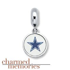 Charmed Memories Dallas Cowboys Charm Sterling Silver  $69.99...(this is actually a Kay Jewelers charm for their bracelet but pandora doesnt have one and I like this one! )
