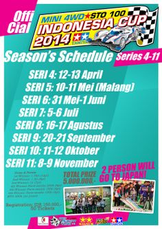Indonesia Cup 2014 updated schedule (again). Check poster for more detail.