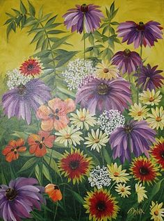 The Festive Garden Painting by Donna Dewberry