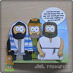 Make-board - Jesus Without Language Greatest Commandment, Easy Paper Crafts, School Resources, Lent, Sunday School, Language, Activities, This Or That Questions, How To Make