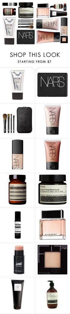 """Lovely make-up things"" by anna-lena-als ❤ liked on Polyvore featuring beauty, Stila, NARS Cosmetics, Aesop, Givenchy, Maybelline and Eight & Bob"