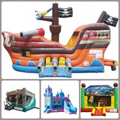 Standard #BounceHouse Slide Combos For Sale, Available in Stock By #TentandTable - http://tentandtable.net/inflatables/bounce-house-slide-combos/standard-combos