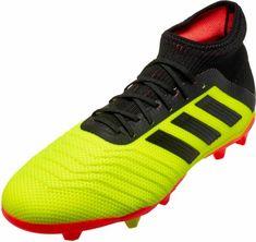 91bdef4ff adidas Predator 18.1 FG - Youth - Solar Yellow Black Solar Red Youth Soccer