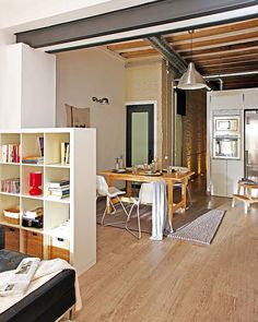 Small Apartment in Barcelona With Clever Design Solutions - http://freshome.com/2012/02/24/small-apartment-in-barcelona-with-clever-design-solutions/