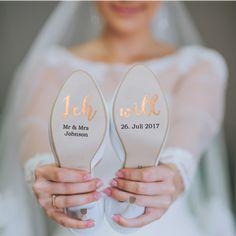 shopandmarry.de: Schuhaufkleber für deine Hochzeit rosegold