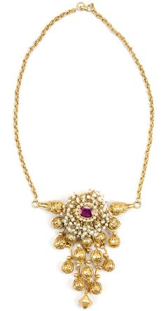 Amrapali presents Hanging bead necklace available only at Pernia's Pop-Up Shop. Gold Mangalsutra Designs, Gold Jewellery Design, Gold Jewelry, Gold Pendent, Pendant, Necklace Set, Beaded Necklace, Hanging Beads, Fashion Jewellery Online