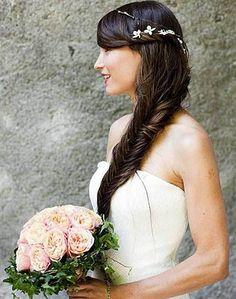 couronne de cheveux tressée pour mariage