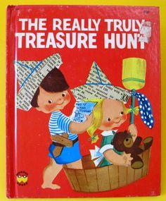''THE REALLY TRULY TREASURE HUNT'' Wonder Book, ill. Crosby Newell | eBay