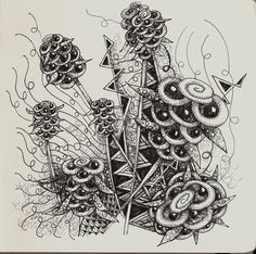 "tangle patterns | Life Imitates Doodles: My tangle pattern ""GingerBee"""