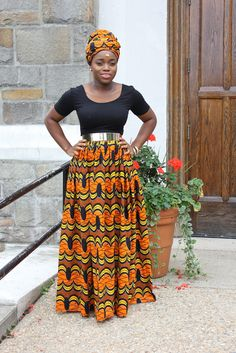 AfricanI inspired maxi skirt