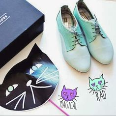 """""""Just discover another pair of #magical #cosmic oxford style from @minashoesmexico amo el color menta #shoes #rad #unicorn"""" - Pauline of Oh My Dior."""